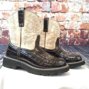 Ariat 'Fat Baby' Gator Embossed Cowboy Boots